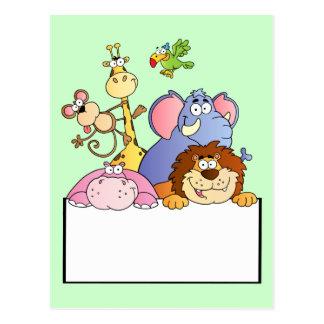 dibujo animado colorido del tablero de la muestra  tarjetas postales