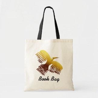 Dibujo animado colorido Phoenix en amarillo y Bolsa Tela Barata