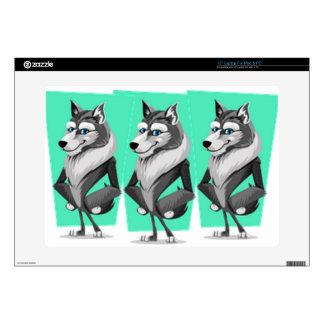 Dibujo animado con clase del lobo calcomanía para portátil