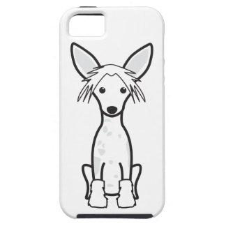 Dibujo animado con cresta chino del perro iPhone 5 protectores
