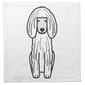 Dibujo animado Corded del perro de caniche Servilleta De Papel