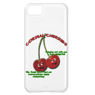dibujo animado cordial educado de las cerezas en t funda para iPhone 5C