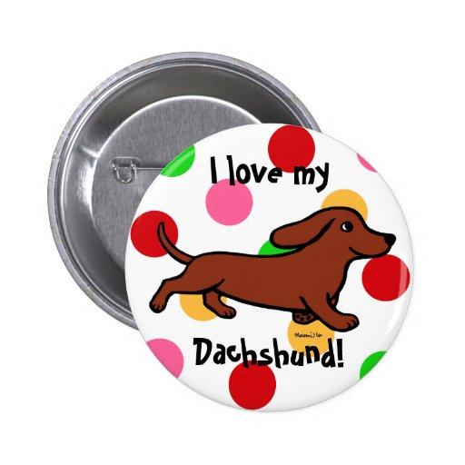Dibujo animado corriente del Dachshund Pin