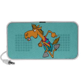dibujo animado corriente divertido del caballo del iPhone altavoces
