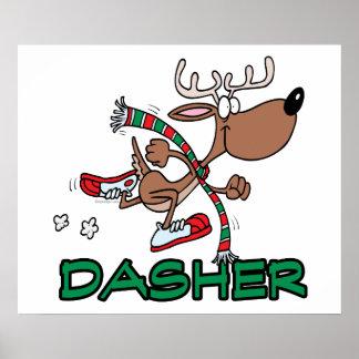 dibujo animado corriente lindo del reno DASHER Impresiones