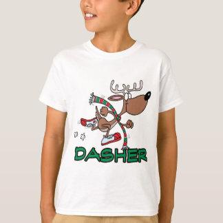 dibujo animado corriente lindo del reno DASHER Playera