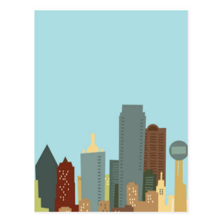 Dibujo animado Dallas Tarjetas Postales
