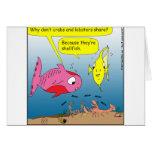 dibujo animado de 441 crustáceos tarjeta
