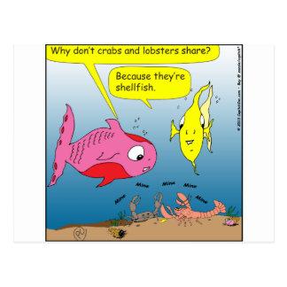 dibujo animado de 441 crustáceos tarjetas postales