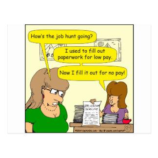 dibujo animado de 615 usos de trabajo tarjetas postales