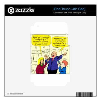 dibujo animado de 836 convicciones calcomanías para iPod touch 4G