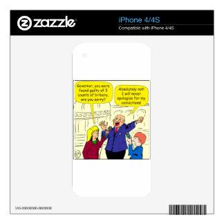 dibujo animado de 836 convicciones skin para el iPhone 4S