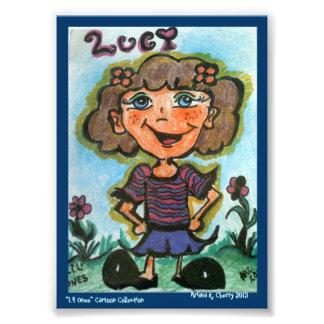 """Dibujo animado de ACEO """"LUCY"""" del artista, Ariana  Cojinete"""