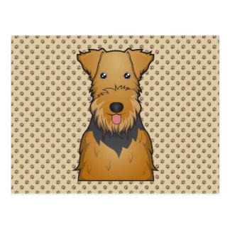 Dibujo animado de Airedale Terrier Postales