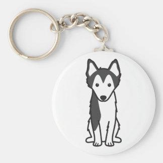Dibujo animado de Alaska del perro de Klee Kai Llavero Personalizado