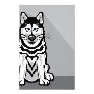 Dibujo animado de Alaska del perro Papelería