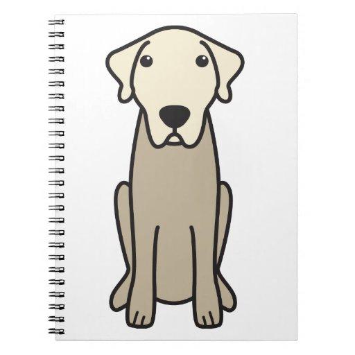 Dibujo animado de Anatolia del perro de pastor Libros De Apuntes Con Espiral