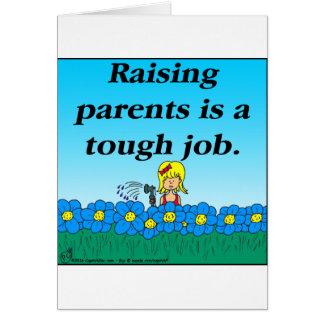 Dibujo animado de aumento de 800 padres tarjeta de felicitación