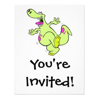 dibujo animado de baile brillante tonto del dinosa comunicado