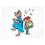 Dibujo animado de baile de los osos flyer a todo color