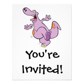 dibujo animado de baile lindo del dinosaurio de Di Anuncios Personalizados