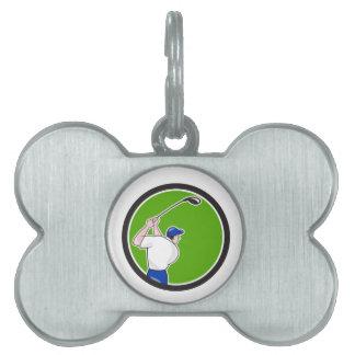 Dibujo animado de balanceo del círculo del club placa de nombre de mascota