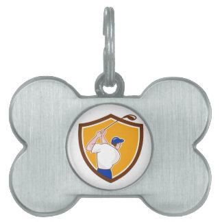 Dibujo animado de balanceo del escudo del club del placas de mascota