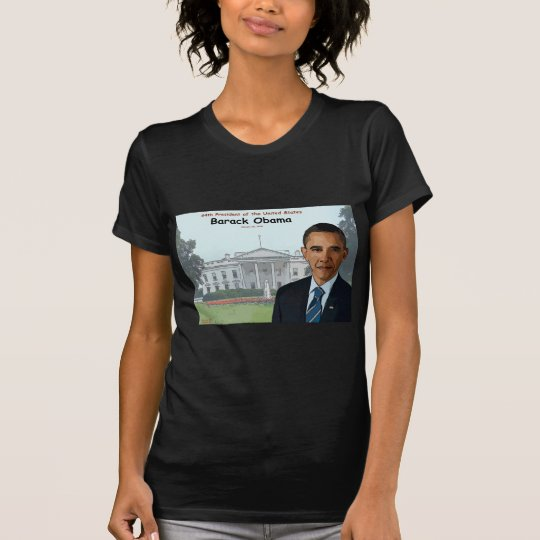 Dibujo animado de Barack Obama Playera