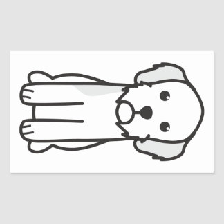 Dibujo animado de Basset Fauve de Bretaña Dog Pegatina Rectangular