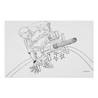 Dibujo animado de BMX Posters