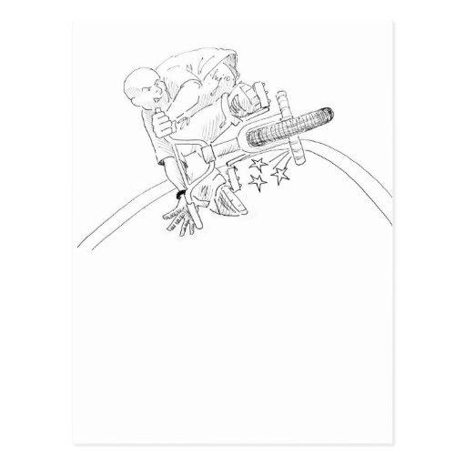 Dibujo animado de BMX Tarjeta Postal