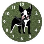Dibujo animado de Boston Terrier Relojes