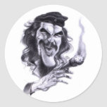 Dibujo animado de Che Guevara Pegatina Redonda