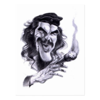Dibujo animado de Che Guevara Tarjeta Postal