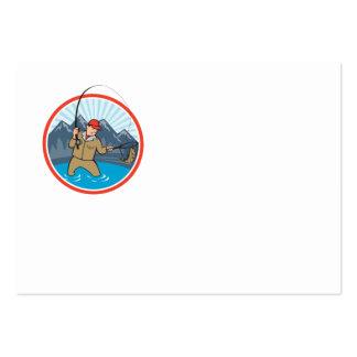 Dibujo animado de cogida de los pescados de la tru tarjetas de negocios