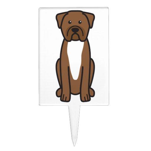 Dibujo animado de Dogue de Bordeaux Dog Figura Para Tarta