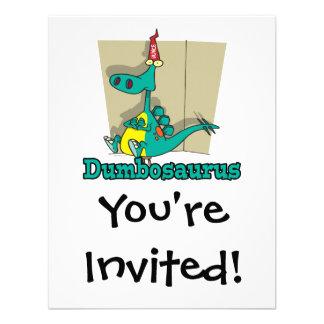 Dibujo animado de Dumbosaurus Dino Invitaciones Personales