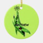 Dibujo animado de encargo de la haba verde ornamente de reyes