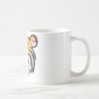Dibujo animado de encargo del rugido del tigre taza de café