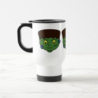 Dibujo animado de Frankenstein Halloween Taza De Viaje De Acero Inoxidable