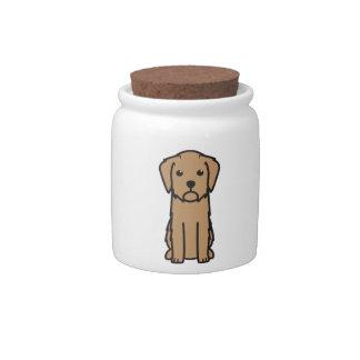Dibujo animado de Griffon Fauve de Bretaña Dog Plato Para Caramelo
