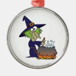 dibujo animado de Halloween del brew de los witchs Ornamento De Navidad