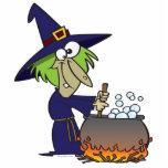 dibujo animado de Halloween del brew de los witchs Esculturas Fotográficas
