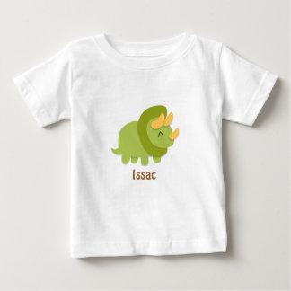Dibujo animado de Kawaii del Triceratops verde y Playera De Bebé