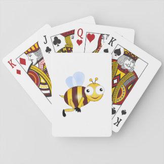 Dibujo animado de la abeja barajas de cartas