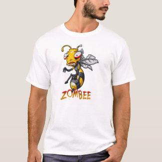 Dibujo animado de la abeja del zombi playera