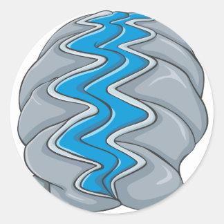 Dibujo animado de la almeja gigante pegatina redonda