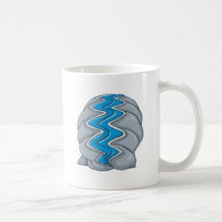 Dibujo animado de la almeja gigante taza de café