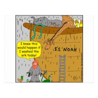 Dibujo animado de la arca de 692 washs de Noah Tarjetas Postales