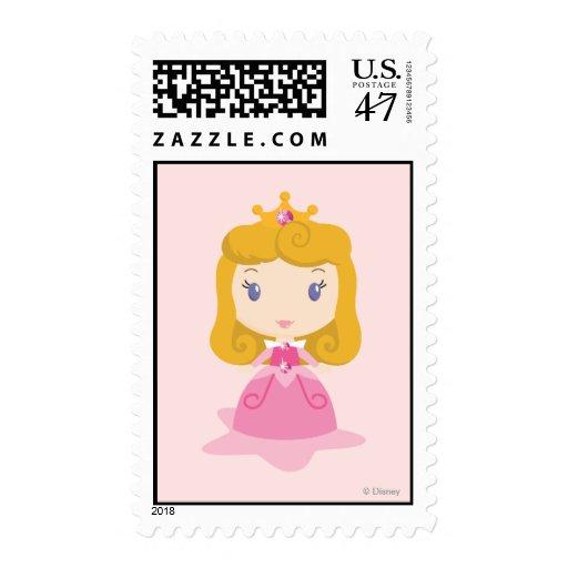 Dibujo animado de la aurora sello postal